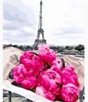 картина по номерам Пионы в Париже