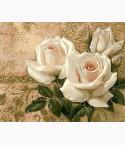 картина по номерам Кремовые розы