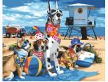 BRM-GX3255 Картина раскраска Собаки на пляже