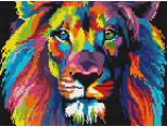 Алмазная вышивка  Rainbow Art Цветной лев (EJ919, На подрамнике)