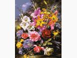 MR-Q2149 Раскраска по цифрам Букет роз и лилий Mariposa