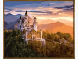 NB908R Картина по номерам Замок в лучах заката (в раме) Babylon