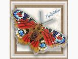 Бабочка из бисера вышивка на пластиковой основе Павлиний Глаз (BGP009)