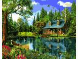 VP1146 Картина раскраска Летний день у озера DIY Babylon