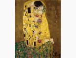KH1109 Картина по номерам Поцелуй в золотой ауре Идейка