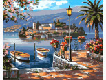 VP213 Картина раскраска Летняя пристань Babylon