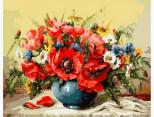 VP294 Картина по номерам Маки с полевыми цветами Babylon