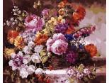 MR-Q1363 Картина раскраска Роскошный букетMariposa
