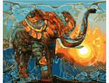 MR-Q1876 Картина раскраска Индийские мотивы Mariposa