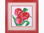 Картина алмазная вышивка Dream Art Три тюльпана (полная зашивка, круглые камни) (DA-20007, Без подрамника)