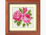 Алмазная живопись Dream Art Букетик с розами (полная зашивка, квадратные камни) (DA-30182, Без подрамника)