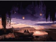 Романтика и влюбленные: картины без коробки Влюбленные под небом
