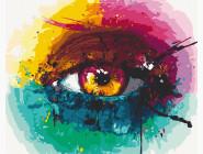 Портреты и знаменитости: раскраски без коробки Радужный глаз