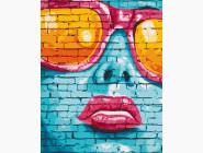 Портреты и знаменитости: раскраски без коробки Street art girl