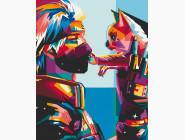 Портреты и знаменитости: раскраски без коробки Какаши