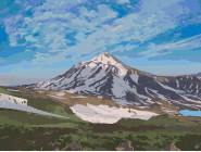 Природа и пейзаж: картины без коробки Вулкан Ликанкабур. Чили