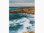 Морской пейзаж: картины без коробки Побережье Пафос. Кипр