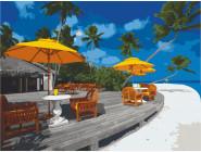 Морской пейзаж: картины без коробки Жемчужный пляж. Бора-Бора