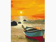 Морской пейзаж: картины без коробки Теплый вечер