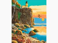 Морской пейзаж: картины без коробки Маяк Сплит-Рок