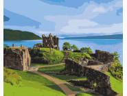Городской пейзаж Замок Аркарт. Шотландия