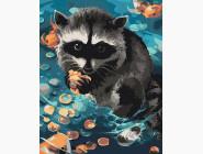 Животные: картины без коробки Енот. Ракун
