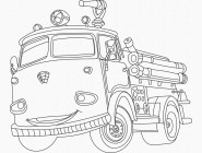 Картинки раскраски для детей Пожарная машина