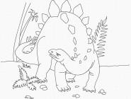 Картинки раскраски для детей Динозавр