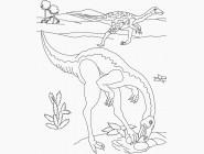 Картинки раскраски для детей Динозавры
