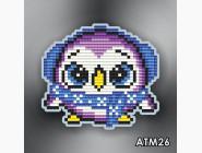 Алмазная вышивка Бабочки и магниты Пингвиненок фиолетовый