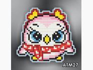 Алмазная вышивка Бабочки и магниты Пингвиненок розовый