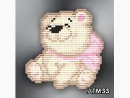 Алмазная вышивка Бабочки и магниты Медвежонок