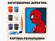 Деревянные раскраски 3D Постер Человек Паук