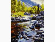Пейзаж и природа Река в горах