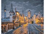 Городской пейзаж Вечер в Бельгии