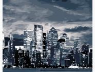 Городской пейзаж Свет ночного города
