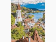Городской пейзаж Швейцарский город