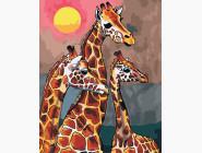 Животные и рыбки Семья жирафов