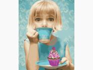 Ангелы и дети Девочка с пироженым