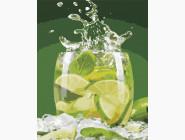 Картины по номерам для кухни Лаймовый напиток
