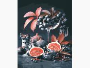 Картины по номерам для кухни Инжир и виноград