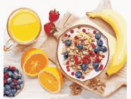 Картины по номерам для кухни Полезный завтрак