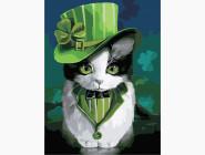 Коты и собаки: картины без коробки Кот в шляпе