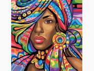 Портреты и знаменитости: раскраски без коробки Африканка