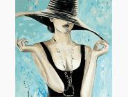 Портреты и знаменитости: раскраски без коробки Модная шляпа