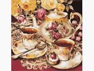 Раскраски для кухни Чаепитие