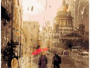 Городской пейзаж Дождливый город
