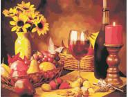 Цветы, натюрморты, букеты Вино и фрукты