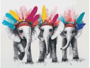 Животные и рыбки Три слона