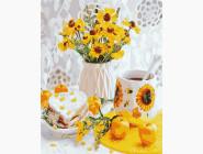 Цветы, натюрморты, букеты Деревенский завтрак